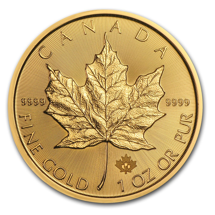 1 oz Canadian Gold Maple 2017 BU
