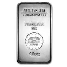 Geiger 10 oz Silver Bar