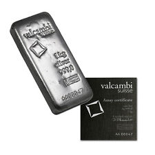1 kg (32.15 oz) Valcambi Silver Swiss Bar (Arriving 15 Sep)