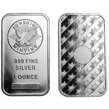 1 oz Silver Sunshine Mint Bar BU