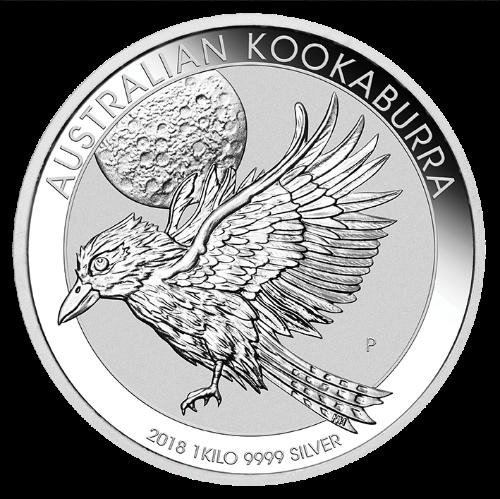 1 kg Australian Silver Kookaburra BU (2018)