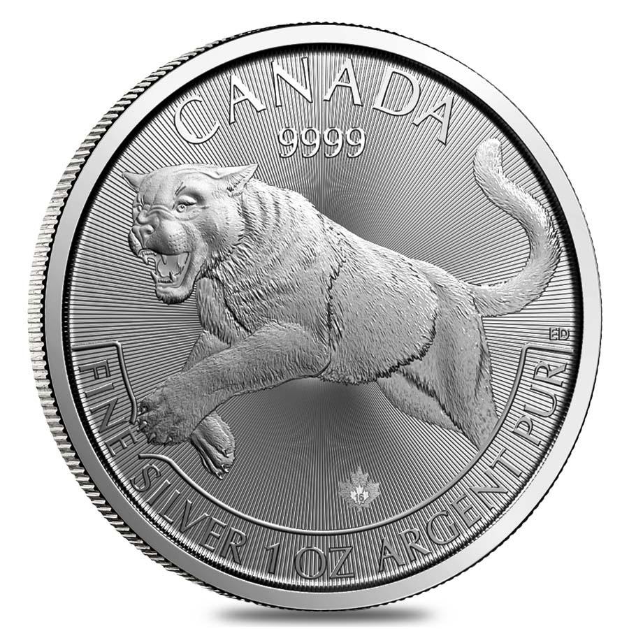 Predator Series (coin 1) – 1 oz Silver Cougar BU (2016)