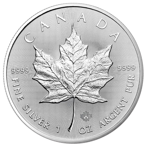 1 oz Canadian Silver Maple Leaf BU (ARRIVING 23 March)