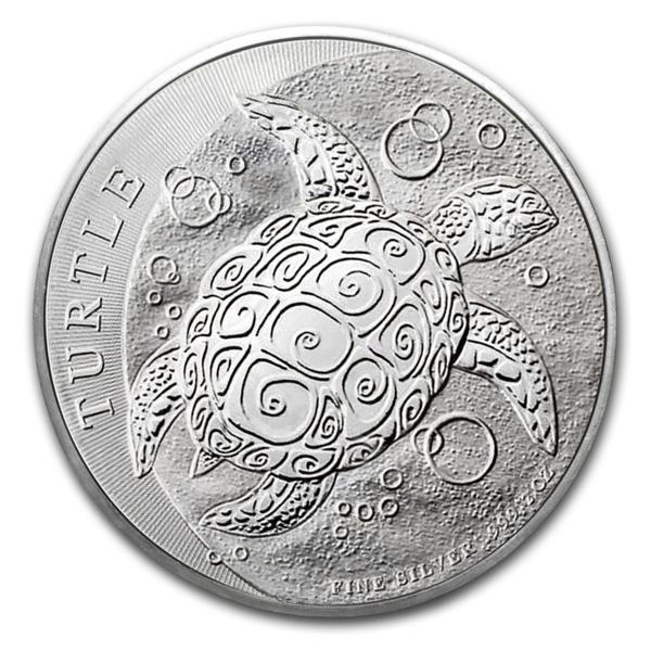 1 oz NZ Niue Hawksbill Turtle BU (2018)