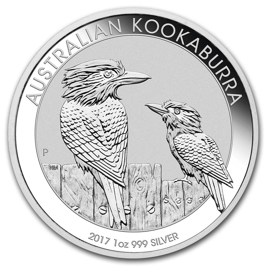 1 oz Australian Silver Kookaburra BU (2017)