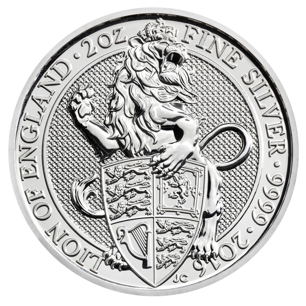2 oz Great Britain Silver Queen's Beasts – The Lion (Coin 1 of 10)