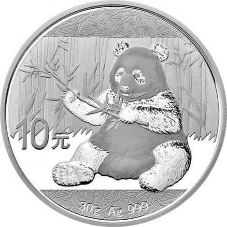 30 gram Chinese Silver Panda BU (2017)