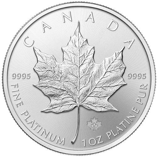 PLATINUM 1 oz Canadian Maple Leaf BU (2018)