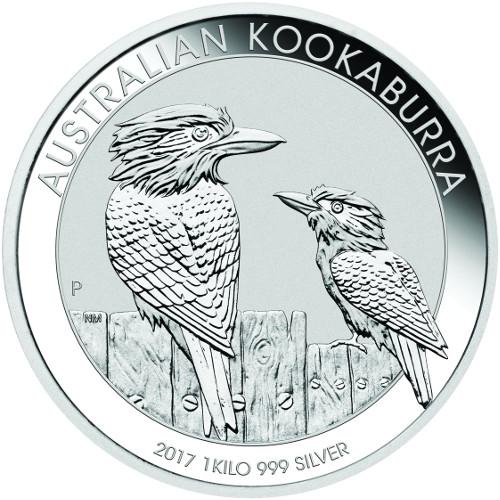 1 kg Australian Silver Kookaburra BU (2017)
