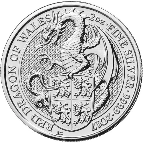 2 oz Great Britain Silver Queen's Beasts – The Dragon (Coin 3 of 10) Arriving 12 July
