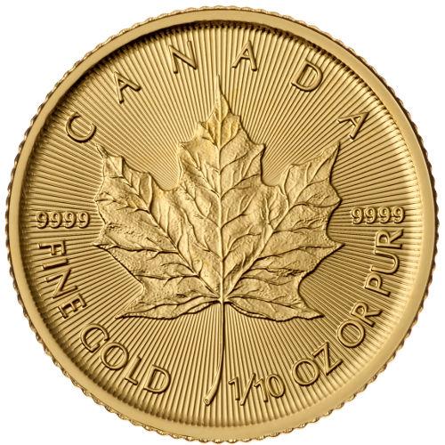 1/10 oz Canadian Maple 2018
