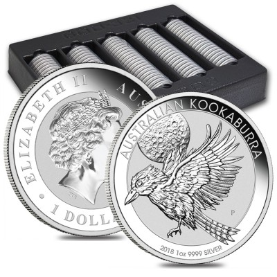 1 oz Australian Silver Kookaburra BU (2018) – Sold Out