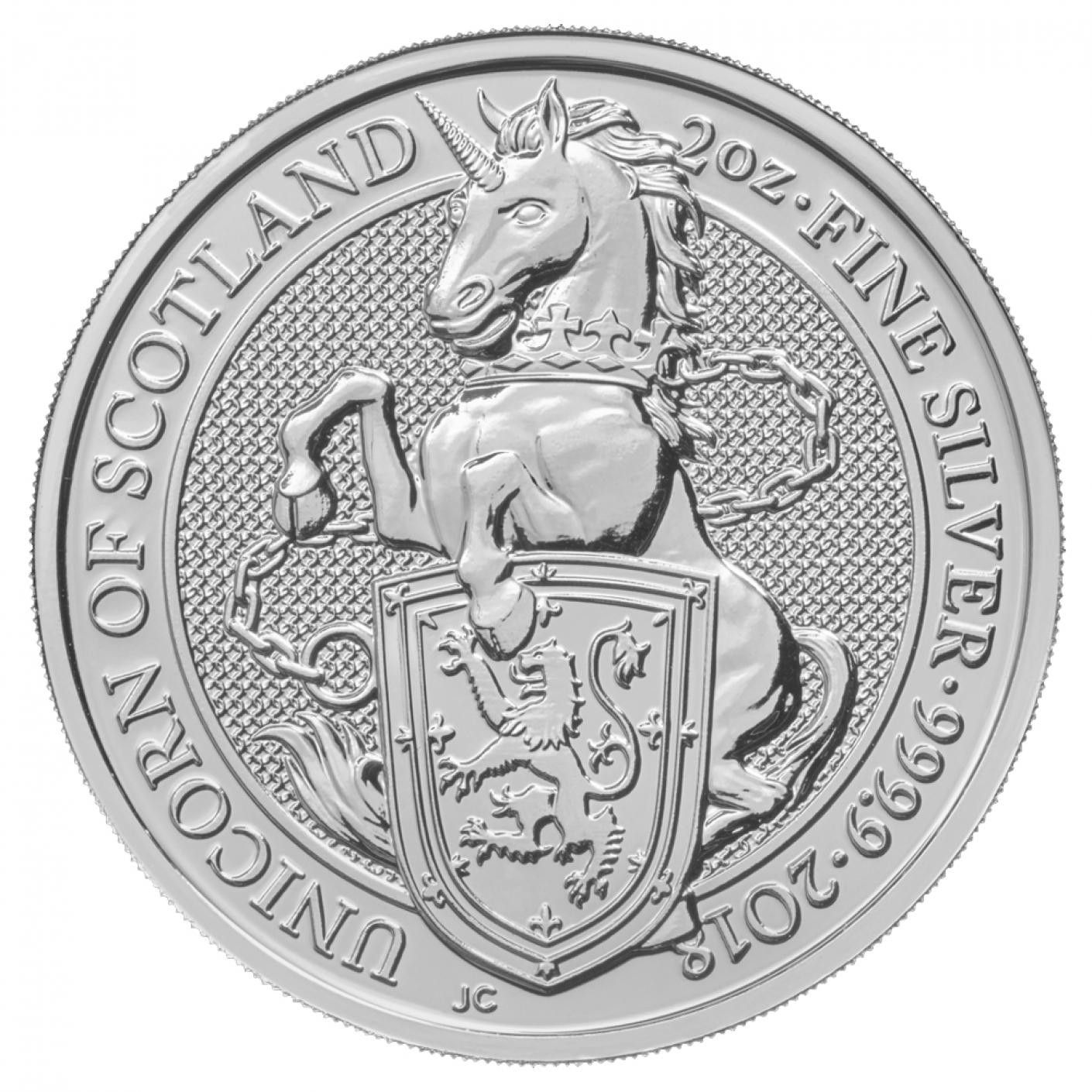 2 oz GB Queen's Beasts – The Unicorn (Coin 4 of 10)